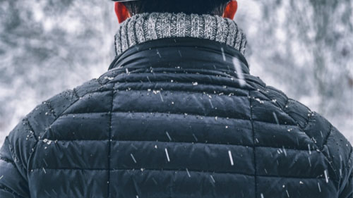 A Winter Down Jacket